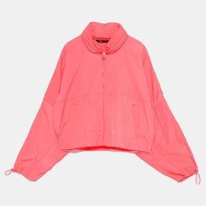 Neon Pink Zara Packable Raincoat Backpack